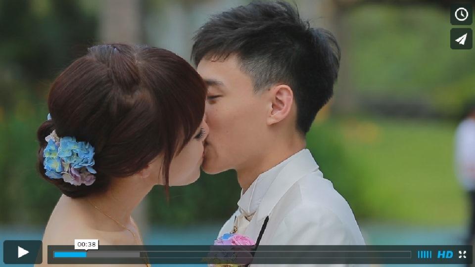台南婚禮錄影103.05.17仕斌與宜穎 中信桂酒店戶外證婚精華MV