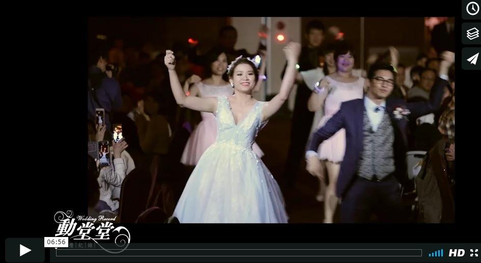 漢神巨蛋會館 高雄婚錄 動堂堂106.02.18維倫&芝妤迎晚精華MV 高雄結婚錄影
